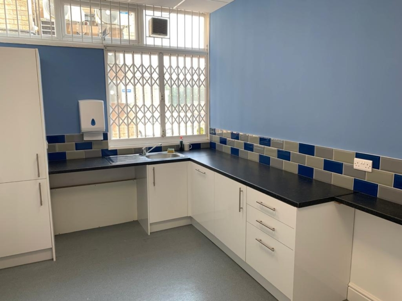Kitchen at business centre at Low Moor